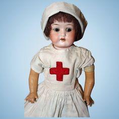Heubach Kopplesdorf Nurse Doll Bisque shoulder head