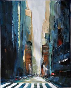city in the night painted - Pesquisa Google