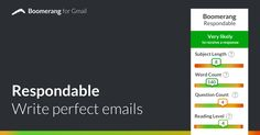 Escribe emails perfectos con Boomerang
