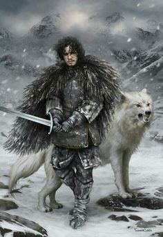 Jon Snow and Ghost  Game of thrones