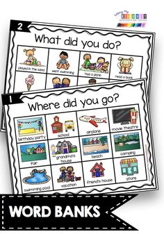 NARRATIVE WRITING picture word bank - anchor charts and posters - How to sequence events - writing a narrative with details in order - graphic organizer for putting events in order writing center Narrative Writing Kindergarten, Kindergarten Anchor Charts, Personal Narrative Writing, Writing Curriculum, Writing Anchor Charts, 1st Grade Writing, Kindergarten Centers, Kindergarten Reading, Teaching Writing