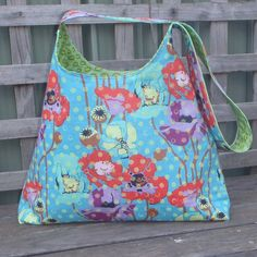Raindrops and Poppies Shoulder Bag Purse Tote by Alittlebirdmademe, $70.00