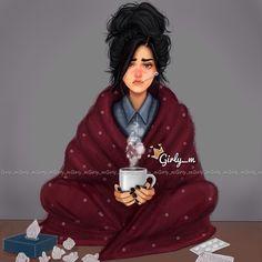 Cuando estas enferma y no quieres salir de casa y te encierras en tu suave mantita