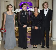 Pregnant Charlotte Casiraghi shows off her bump at the Amade Mondiale Association's 50th Anniversary Gala Dinner