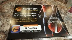 Free mobile sports app FireFan. Play with MVP celebrities to get a chance to win signed membilla. Use code 2kfireplay. Predict the outcome of a live NFL game, Superbowl LI and NBA.