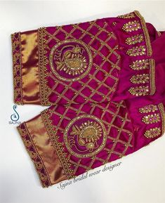To get your outfit customized visit us at Chennai, Vadapalani or call/msg us at / for appointments, online order… - Wedding Saree Blouse Designs, Pattu Saree Blouse Designs, Fancy Blouse Designs, Blouse Neck Designs, Sleeve Designs, Saree Wedding, Maggam Work Designs, Stylish Blouse Design, Designer Blouse Patterns