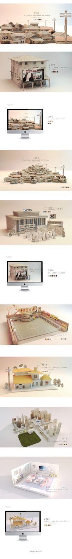 KBS project by aram kwak, via Behance