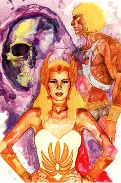 He-Man/She-Ra Christmas Special DVD. Illustration by David Mack