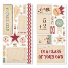 """Typeset Complements Canvas Shapes  2 – 12"""" × 6"""" coordinating adhesive sheets with full-color images. ONLY $1.95"""