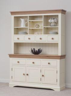 Country Cottage Painted Funiture Cabinet Cream Large Dresser Oak Furniture Land Www Oakfurnitureland