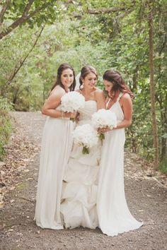 Long Ivory Bridesmaids Dresses