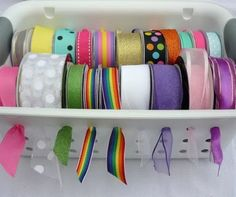 Classic Chic Home: Home Organization: Creative Craft Room Storage