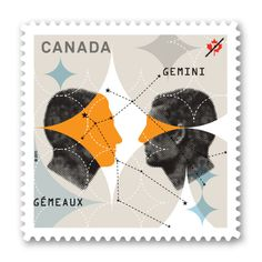 Canadian Stamp - Signs of the Zodiac: Gemini, the twins