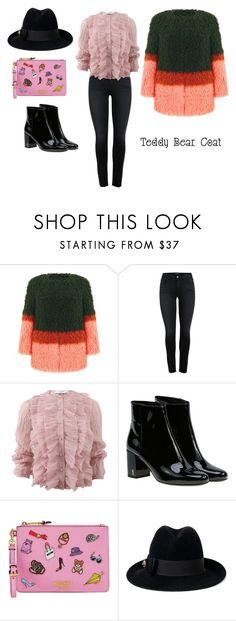 """Sin título #543"" by viviana74 ❤ liked on Polyvore featuring Shrimps, Givenchy, Yves Saint Laurent, Moschino and Gucci"