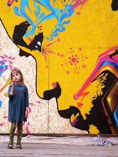 Amazing Street Art - Mr Pilgrim Graffiti Art / Urban Art..