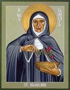 Hildegard of Bingen, Doctor of the Church Women, Bernard Of Clairvaux, Mystic, Bingen, Robert, Ofm, Colorado Artists, Medieval, Hagiography