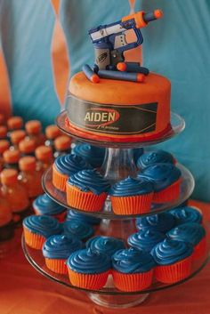 Aiden's Nerf War Birthday Party | CatchMyParty.com