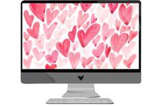 Wallpaper: Februar - we love handmade Mac Wallpaper Desktop, Watercolor Wallpaper, Wallpaper For Your Phone, Heart Wallpaper, Computer Wallpaper, Wallpaper Downloads, Wallpaper Backgrounds, Iphone Wallpapers, Handmade Wallpaper