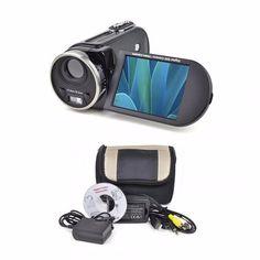Mitsuba DX700 Digital Camcorder Black 16.0 MP 3 LCD SD Slot W/Carry Case #Mitsuba