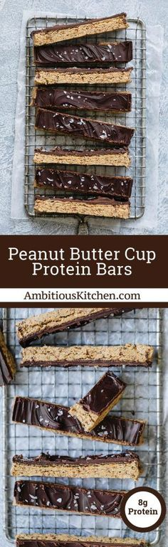 Peanut Butter Cup Protein Bars + video! | Ambitious Kitchen