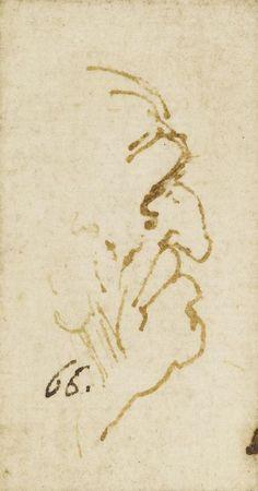 The head of an old man with a hooked nose in profile Leonardo da Vinci (Vinci 1452-Amboise 1519) #TuscanyAgriturismoGiratola