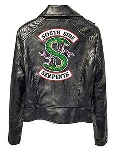 Riverdale Veste en Cuir Serpent Femme Cuir Vernis Pull Chic Pas Cher Ado  Fille Gilet Court 36ddc980a39