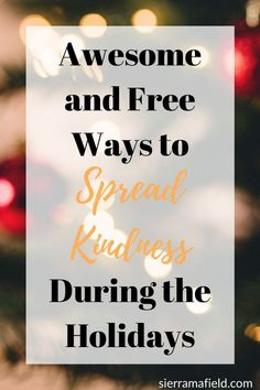 The holidays can be a tough time for a lot of people, and it's important that we spread kindness around for them to receive so we can make the world a happier place! Spreading kindness does NOT have to cost money, though - you're spending enough as it is! Love Tips, Self Care Routine, Be Kind To Yourself, Tough Times, Helping Others, Personal Development, Self Love, Affirmations, How To Find Out