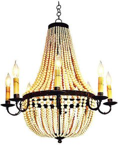 305d31e90242 One Kings Lane Warwick 8-Light Chandelier - Gold French Empire Chandelier