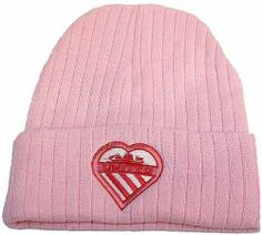 Sugar Pink Bronx Hat with Heart United Manchester Shield