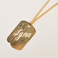 '50s Lynn Dog Tag Necklace, $38, now featured on Fab.