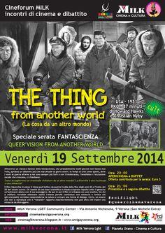 Cinema e Cultura LGBTQ Verona: The Thing - Venerdì 19 Settembre @ Milkcenter