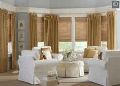 Layered window treatments add beauty, texture, and sophistication to any room!