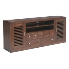 Holland 185cm Entertainment Unit in Mahogany or Chocolate Desiron $635 on sale