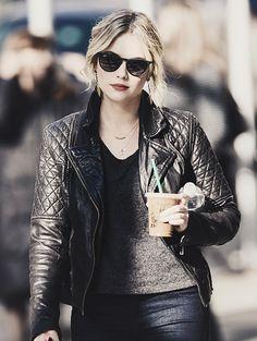Ashley Benson. Nice jacket