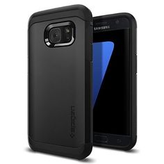 Galaxy S7 Case, Spigen® [Tough Armor] HEAVY DUTY [Black] EXTREME Protection / Rugged but Slim Dual Layer Protective Case for Samsung Galaxy S7 (2016) - (555CS20020)