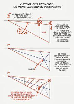 Dessin, illustration, strip, ...: Cours de perspective: la division des espaces en p...