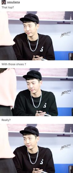 I want him to be my fashion expert XD