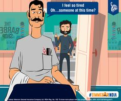 The hairdresser welcomes him in with a smile, behaving just like he would to any other customer. #ZimmedarIndia