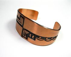 Vintage Solid Copper Cuff from jewelry by NaLa www.etsy.com/... #jewelry #native american #tribal #vintage #products #fashion #style jewelrybynala