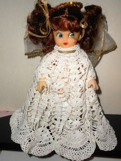 New Angel Renuzit air freshener Doll made with vintage doily w freshener by DollhouseGardens on Etsy