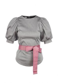 Блуза Tutto Bene, цвет: серый. Артикул: TU009EWFKX74