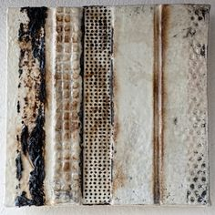 """All Roads Lead to Forever by Michelle Belto Torch, Tar, Beeswax, Damar, Cotton, Abaca ~ 18"""" x 18"""""""
