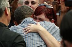 President Obama stopped shaking hands for a moment today so that he could embrace a sobbing woman whose uninsured sister recently died of coloncancer. \\ Obamacare will help real actual Americans not die. It should be better and gosh darnit, we'll make it better - but we should not defeat the good in search of perfection. Also, good president is a pretty damn decent human being. #Obama2012