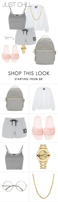 """"" by sherie-lover ❤ liked on Polyvore featuring Ivy Park, Topshop, Puma, Movado and Everlasting Gold"