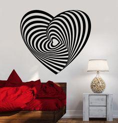 Vinyl Wall Decal Heart Art Decoration Romance Love Stickers (1140ig)