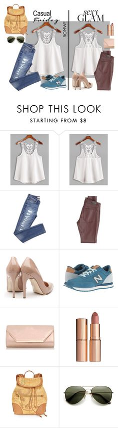 """""""Romwe contest"""" by pocok01 ❤ liked on Polyvore featuring AG Adriano Goldschmied, Rupert Sanderson, New Balance Classics, Dorothy Perkins, Charlotte Tilbury and Alviero Martini 1° Classe"""