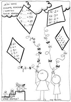Karty myślograficzne - mnożenie i dzielenie Matematyka Ola Pawlak Pomoce dydaktyczne Math For Kids, Worksheets, Diagram, Clip Art, Education, School, Books, Minka, Activities