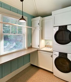 Laundry Room ~ stackable washer & dryer