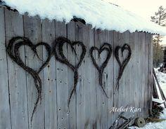 Hjerte av kvister i bjørk