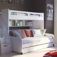 Multimo Bel Mondo Twin Bunk Bed with Trundle & Reviews | Wayfair